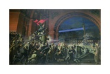 Detail from the Storming of the Winter Palace, 7th November 1917 Giclee Print