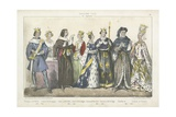 French Kings and Queens of the 14th and 15th Century Giclee Print