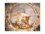 Genius on Pegasus Putting Time to Flight Giclee Print by Giambattista Tiepolo