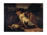 Queen Zenobia Taken from River Araxes by Shepherds Giclee Print by Francesco Nenci