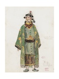 France, Paris, Costume Sketch for Pong in Oper Turandot Giclee Print by Giacomo Puccini