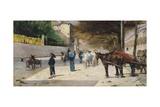 Prince Amedeo Avenue, 1880-1881 Giclee Print by Giovanni Fattori