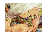 A Portrait of Sarah Bernhardt, Reclining in a Chinois Interior Giclee Print by Georges Marie Rochegrosse