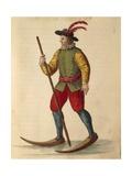 Acrobat Mask: Agile Man Giclee Print by Jan van Grevenbroeck
