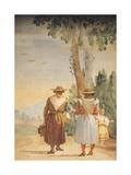 Figures of Peasant Women Giclee Print by Giambattista Tiepolo