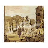 Darwin Witnessed the Great Earthquake That Wrecked the City of Concepcion Giclee Print
