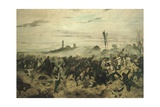 The Battle of Montebello, 1862 Giclee Print by Giovanni Fattori