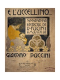 Title Page of Sheet Music of E L'Uccellino, Lullaby Giclee Print by Giacomo Puccini