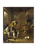 A Seated Cavalier with Soldiers Playing Cards, 1655 Giclee Print by Jacob Duck