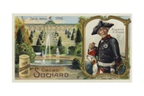 Frederick the Great, King of Prussia, and the Palace of Sanssouci, Potsdam Giclee Print by  European School