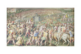 Pisa Attacked by the Florentine Troops, Salone Dei Cinquecento, 1555-72 Giclee Print by Giorgio Vasari