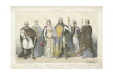 Frankish Kings and Queens of the Carolingian Dynasty Giclee Print