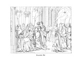 The Death of Henry of Meissen, Named Frauenlob Giclee Print by Alfred Rethel