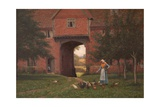 Hales Old Hall, Hales Green, Near Norwich, Norfolk, 1913 Impression giclée par Edmund Blair Leighton