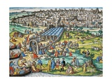 Conquest of Tunis by Charles V, 1535 Giclee Print by Franz Hogenberg