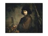 Self-Portrait Dressed as Warrior Giclée-tryk af Salvator Rosa