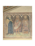 St Anthony the Abbot, St John the Baptist and St Stephen, 1345 Giclee Print by Pietro Lorenzetti