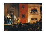 Theatre Du Gymnase in Paris, 1856 Giclee Print by Adolph Menzel