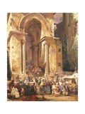 Door of the Bell Tower of St Erasmus in Gaeta Giclee Print by Giacinto Gigante