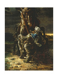 And in the First Career They Ran, the Elfin Knight Fell Horse and Man' Giclee Print by Daniel Maclise
