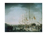 Embarkation of Troops at Debtford in 1793 Giclee Print by Francis Holman