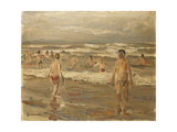 Boys Bathing in the Sea; Badende Knaben Im Meer, 1899 Giclee Print by Max Liebermann