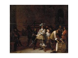 A Guardroom Interior with a Cavalier Conversing with a Drummer Giclee Print by Anthonie Palamedesz