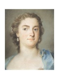 Portrait of Faustina Bordoni Hasse Giclée-tryk af Rosalba Carriera