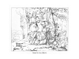Roland, the Faithful Paladin, Engraved by J. Dielmann Giclee Print by Alfred Rethel