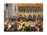 Victor Emmanuel II Entering Venice, November 7, 1866 Giclee Print by Gerolamo Induno