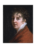 Portrait of the Artist, Bust Length, Wearing a Red Jacket and Lace Collar Giclee Print by Elisabeth Louise Vigee-LeBrun
