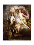 The Triumph of Venus and Cupid with Cupid's Chariot Giclee Print by Johann Georg Platzer