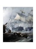 Battle of Camperdown, October 11, 1797 Giclee Print by George Chambers