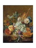 Still Life with Flowers and Fruit Giclee Print by Jan van Huysum