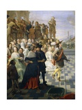 Dance on Terrace of Building Giclee Print by Hieronymus Janssens
