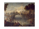 Battle of the Cassano D'Adda Bridge, August 16, 1705 Giclee Print by Francesco Monti