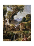 Landscape with St. Jerome, 1852 Giclee Print by Giacinto Gigante