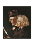 Portrait of Brothers Jacob and Wilhelm Grimm, 1855 Giclee Print by Elisabeth Maria Anna Jerichau-Baumann