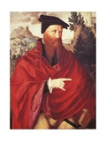 Portrait of David Joris, a Dutch Anabaptist Giclee Print by Jan van Scorel
