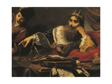 Croesus Receiving Tribute from Lydian Giclee Print by Claude Vignon