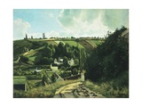 Jallais Hill at Pontoise, 1867 Reproduction procédé giclée par Camille Pissarro