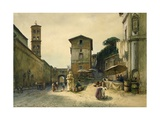 Via Dei Penitenzieri in Rome Giclee Print by Ettore Roesler Franz