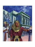 Pharaoh Telling Moses to Take the People of Israel Out of Egypt Giclee Print by Mike Lea