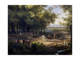 Horse Riding Near Mexico City Giclee Print by Jose Maria Velasco
