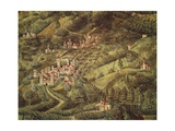 The Magi King's Journey to Bethlehem, 1459 Giclée-tryk af Benozzo Gozzoli