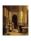 Corridor of Santa Maria Della Steccata in Parma Giclee Print by Luigi Marchesi