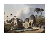 Tombs of Arabian Saints at Rosetta, Engraving Giclee Print by Luigi Mayer