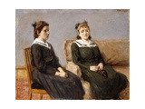 The Two Sisters Leder; Die Zwei Schwestern Leder, 1911 Giclee Print by Max Liebermann