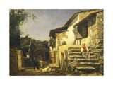 Colonial House in Sorrento, 1859 Giclee Print by Filippo Palizzi