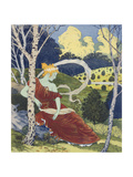 In the Woods, from 'L'Estampe Moderne', Published Paris 1897-99 Giclee Print by Eugene Grasset